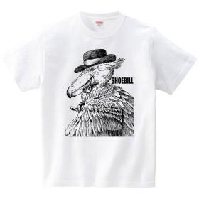 [itaxes] ハシビロコウ紳士-2(Tシャツ・ホワイト)(Mサイズ) (堀 ようこ)