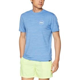 [ダカイン] [メンズ] 半袖 ラッシュガード Tシャツ (UVカット)[ AJ231-858 / ROOTS LS FIT SS ] 海 プール 水陸両用 SCH_ブルー US M (日本サイズM相当)