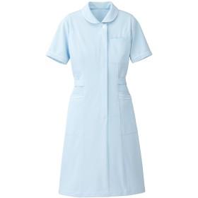 【Lumiere】ルミエール ナース 看護師用 女性用 白衣 診察衣 ワンピース (861330)サックス M