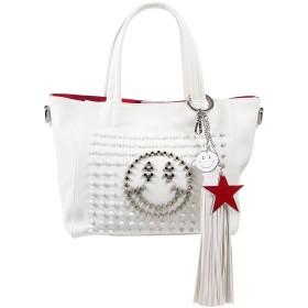 スタッズスマイルバッグ+タッセルチャーム<ホワイト><Sサイズ>2271-0101 AnneCoquine アンコキーヌ バッグ