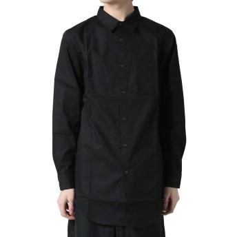 (アズスーパーソニック) AS SUPER SONIC シャツ ロング丈 サイドファスナー 日本製 メンズ ブラック F