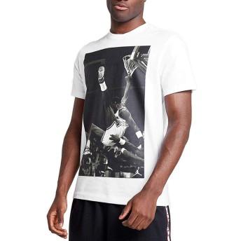 (ジョーダン) Jordan ウェア Tシャツ Jordan Hangtime Photo Tee Wht/Blk バスケットボール ストリート L
