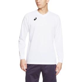 (アシックス)asics バレーボールウエア 長袖プラシャツ XW6730 [メンズ] XW6730 0190 ホワイト/ブラック M