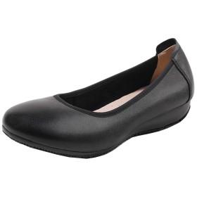 [パーセンター] レディース パンプス 黒 歩きやすい スクエアトゥ ヒール2.5cm シンプル フォーマル オフィス ビジネス 通勤 通学 ジュース 美脚