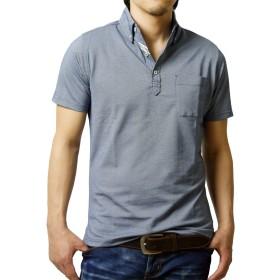 (アルージェ) ARUGE ポロシャツ メンズ 半袖 ボタンダウン おしゃれ クールビズ ビジカジ 大きいサイズ / A8L / 3L 74ネイビー