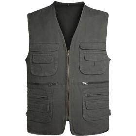 (ネルロッソ) NERLosso ベスト メンズ メッシュ ジレ チョッキ ビジネス フォーマル ポケット アウトドア スーツ サバゲー 正規品 2XL アーミーグリーン3 cmn24138-2XL-agr3