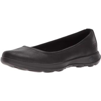 [スケッチャーズ] Women's Go Walk Lite-15395 Ballet Flat, Black, Size 6.5