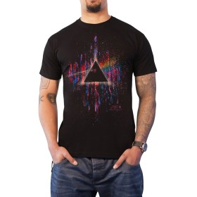 Pink Floyd T Shirt Dark Side Of The Moon ピンク Splatter 公式 メンズ 新しい Size S