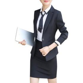 レディース 洋服 スーツ セット スカートスーツ フォーマルスーツ 上下 セットアップ スーツ 長袖 2点セット ビジネス服 OL出勤服 おしゃれ 結婚式 スーツ 卒業式 スーツセット大きいサイズ