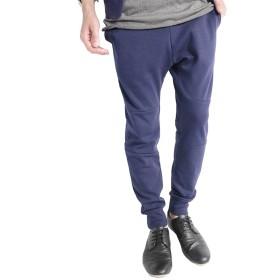 (モノマート) MONO-MART ジョガーパンツ ストレッチ スキニー パンツ 杢 ジョガー MODE メンズ ネイビー Lサイズ