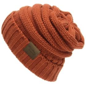 ミナコライフ ニット帽 ワッチ キャップ ユニセックス帽子 ニットキャップ メンズ レディース 男女兼用 (全13色) (オレンジ)