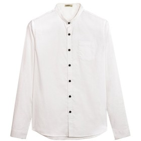 メンズシャツオックスフォードファブリックカジュアルな長袖シャツソリッドカラースリム春と秋のスタイル