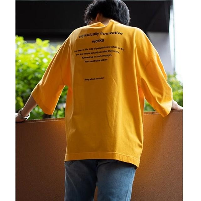 [マルイ]【セール】ロゴ刺繍ビッグ5分袖Tシャツ/ウィゴー(メンズ)(WEGO)