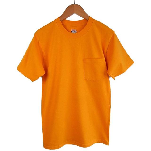 (ヘインズ) HANES BEEFY TEE POCKET ヘインズ メンズ ポケットTシャツ 5190p ビーフィー [並行輸入品] (XL, ゴールド)