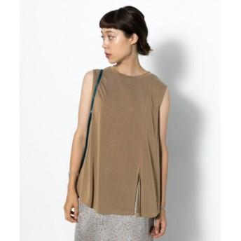 SENSE OF PLACE(センスオブプレイス) トップス Tシャツ・カットソー フロントスリットフレアトップ(ノースリーブ)
