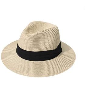 fieldlabo ちょいわるオヤジの パナマハット 中折帽 麦わら 遮光 UV 紫外線 メンズ ゴルフ レジャー (ライトベージュ)