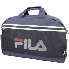 FILA(フィラ) ブランド ロゴ メッシュ ボストンバッグ 54cm (ネイビー)