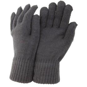 在庫限り メンズ 冬用 サーマル ニットグローブ ニット手袋 男性用 (ワンサイズ) (グレー)