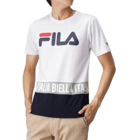 FILA(フィラ) バイカラーTシャツ FH7326 メンズ ホワイト:L