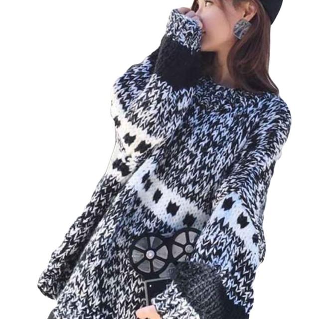 YiTongセーター レディース 秋 冬 ニットコート トップス セーター ロン丈 魅力な 暖かい 厚手 ゆったり 長袖カ ジュアルブラック