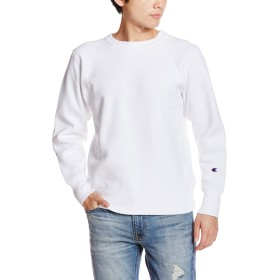 [チャンピオン] リバースウィーブ クルーネックスウェットシャツ C3-W004 メンズ ホワイト 日本 L (日本サイズL相当)