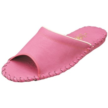 (パンジー) Pansy スリッパ 婦人用室内履き レディース ルームシューズ LLサイズまで対応 9505 (M (23.0~23.5cm), ローズ)