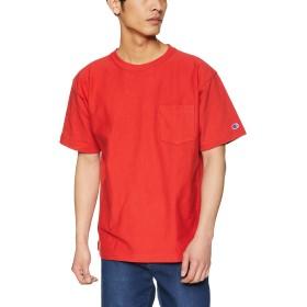 [チャンピオン] リバースウィーブ ポケットTシャツ C3-P318 メンズ ディープレッド 日本 M (日本サイズM相当)
