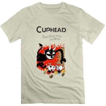 RY42-T ファッションデザイン メンズ Cuphead Cartoon Design ティーシャツ