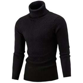 LLXNN メンズ ニット セーター ケーブル編み ニット タートルネックセーター 無地 おしゃれ 全5色 M-2XL