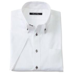【メンズ】 形態安定デザインYシャツ(半袖) - セシール ■カラー:ホワイト・ドビー ■サイズ:3L,4L,5L