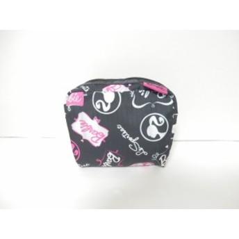 レスポートサック LESPORTSAC ポーチ レディース 美品 黒×ピンク×マルチ Barbie レスポナイロン【中古】20190712