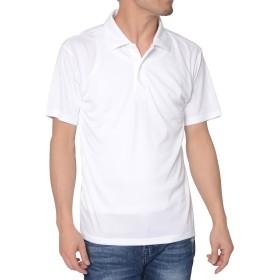 ティーシャツドットエスティー ポロシャツ ドライ 半袖 無地 薄手 3.5oz メンズ ホワイト L