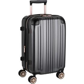 [レジェンドウォーカー]スーツケース キャリー ファスナー 拡張機能 TSAロック 機内持込サイズ(拡張時39リットル)1~3泊対応 カーボン