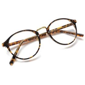 (RAKUGAKI) 伊達メガネ おしゃれ 丸めがね 黒縁 ボストン サングラス デミゴールド