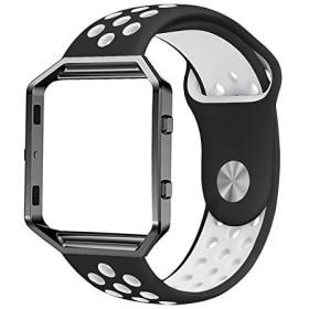Haotop for Fitbit Blaze Watch band ウォッチ バンド シリカゲルバンド スポーツシリコンブレスレットストラップリス