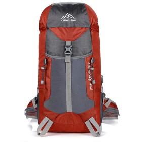 登山 リュック バックパック リュックサック ハイキングバッグ リュックデイパック USB充電ポート搭載 防水 レディース メンズ アウトドア ナイロン ワインレッド