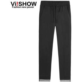 VIISHOW スーパー ストレッチ ストレート デニムパンツ スリム ヴィンテージ加工 メンズ ジーンズ ストレート ゆったり ジュニア リラックスフィット ストレートジーンズ