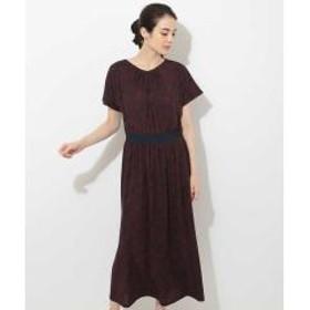 【洗濯機OK】ボタニカルリーフドレス【お取り寄せ商品】