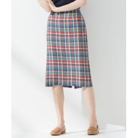【23区:スカート】【中村アンさん着用】LIBECOラフリーリネン タイトスカート(検索番号K26)