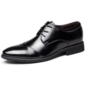 (デザート)Dessert 紳士靴 メンズ ビジネスシューズ 革靴 外羽根 通気性抜群 ブラック 24CM