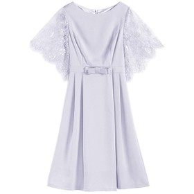 Jomiss パーティードレス ワンピース 結婚式 レース フォーマルドレス パーティー 結婚式 お呼ばれ ドレス (グレー, XXL)
