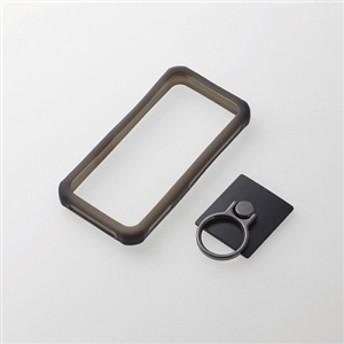 【エレコム】 スマートフォン用汎用シリコンバンパー P-SCBSTRBK スマートフォン用ケース