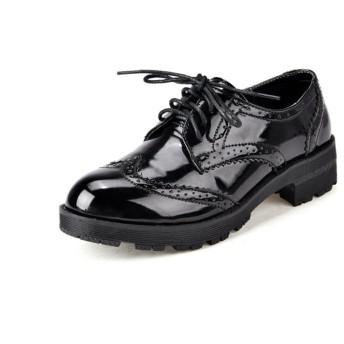 shoesway パンプス ローファー おじ靴 スニーカー レディース 学生靴 革靴 通勤 通学 厚底靴 女性 靴 おしゃれ (24cm, ブラック)
