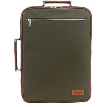 (ロトプ) LOTUFF バックパック ワックスファブリックレザーデイパックメンズレディース LO-1512 男女兼用 (WaxFabric Leather Casual Backpack Unisex) (BritishGreen) [並行輸入品]
