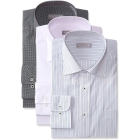(dresscode101)メンズ 長袖 ワイシャツ ノーアイロン イージーケア 形態安定 3枚セット 3綺麗め S