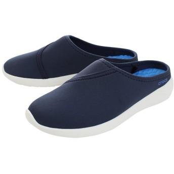 crocs(クロックス) レディース 女性用 シューズ 靴 クロッグ ミュール LiteRide Mule - Navy/White 6 M [並行輸入品]