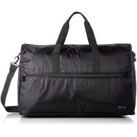 [ハピタス] 折りたたみボストンバッグ(大型) Mサイズ 中型 キャリーオン 豊富な柄 1ブラック One Size