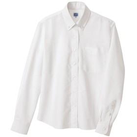 (アイトス)AITOZ レディース オックスボタンダウン長袖シャツ 【形態安定】 #AZ-7871 ホワイト LL