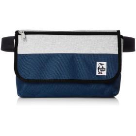 [チャムス] ウエストバッグ Flap Waist Bag Sweat Nylon H-Gray/Basic Navy