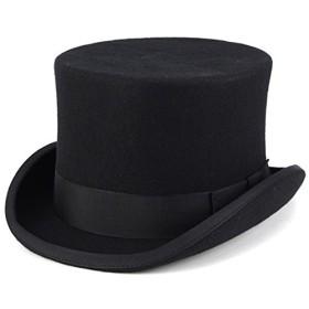 CHRISTYS' LONDON 帽子 トップハット クリスティーズロンドン シルクハット ウール100%の上質 フェルトハット メンズ レディース 秋冬.